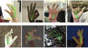 Handen met gebarentaal herkenning